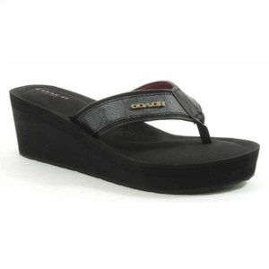 COACH Jolene Signature Wedge Flip Flops 9